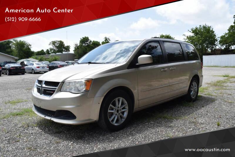 2014 Dodge Grand Caravan for sale at American Auto Center in Austin TX