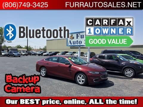 2016 Chevrolet Malibu for sale at FURR AUTO SALES in Lubbock TX