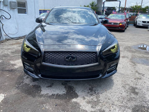 2015 Infiniti Q50 for sale at INTERNATIONAL AUTO BROKERS INC in Hollywood FL