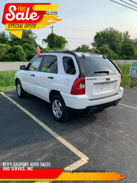 2009 Kia Sportage for sale at KEV'S GASPORT AUTO SALES AND SERVICE, INC in Gasport NY