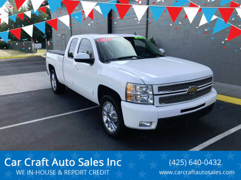 2012 Chevrolet Silverado 1500 for sale at Car Craft Auto Sales Inc in Lynnwood WA