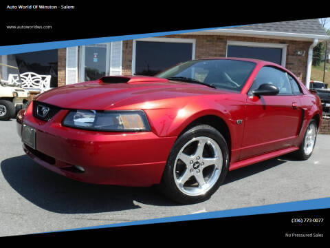 2003 Ford Mustang for sale at Auto World Of Winston - Salem in Winston Salem NC