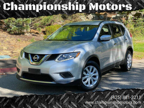 2015 Nissan Rogue for sale at Championship Motors in Redmond WA