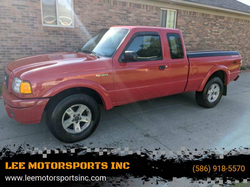 2005 Ford Ranger for sale at LEE MOTORSPORTS INC in Mount Clemens MI