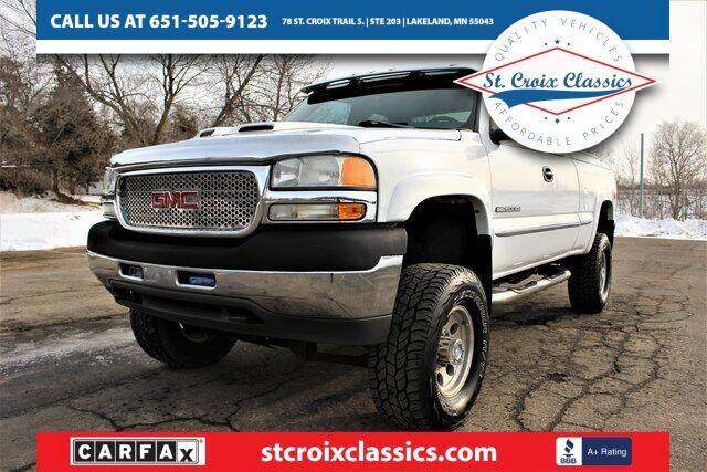 2002 GMC Sierra 2500HD for sale at St. Croix Classics in Lakeland MN