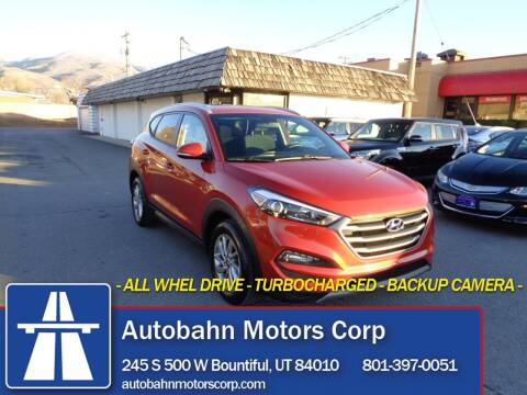2016 Hyundai Tucson for sale at Autobahn Motors Corp in Bountiful UT