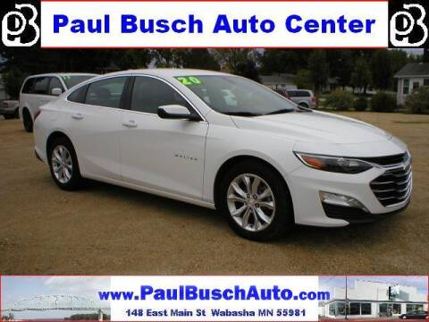 2020 Chevrolet Malibu for sale at Paul Busch Auto Center Inc in Wabasha MN