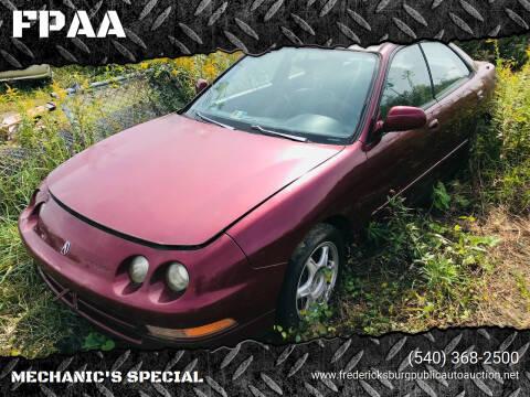 1996 Acura Integra for sale at FPAA in Fredericksburg VA