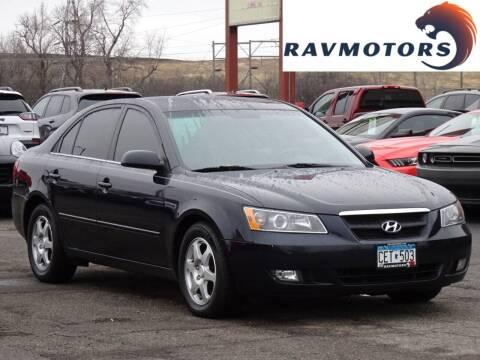 2006 Hyundai Sonata for sale at RAVMOTORS in Burnsville MN