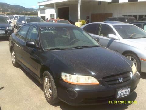 2001 Honda Accord for sale at Mendocino Auto Auction in Ukiah CA