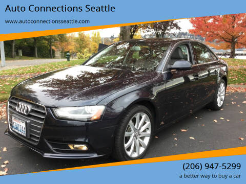 2013 Audi A4 for sale at Auto Connections Seattle in Seattle WA