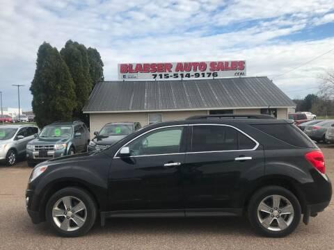 2012 Chevrolet Equinox for sale at BLAESER AUTO LLC in Chippewa Falls WI