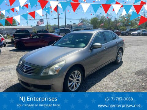 2009 Infiniti G37 Sedan for sale at NJ Enterprises in Indianapolis IN