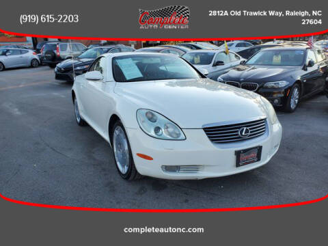 2002 Lexus SC 430 for sale at Complete Auto Center , Inc in Raleigh NC