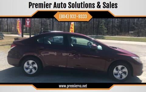 2013 Honda Civic for sale at Premier Auto Solutions & Sales in Quinton VA