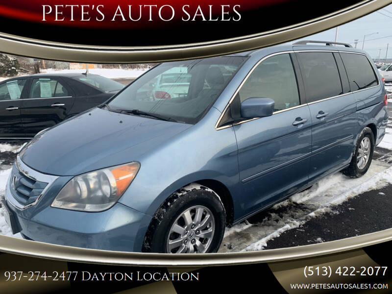 2008 Honda Odyssey for sale at PETE'S AUTO SALES - Dayton in Dayton OH