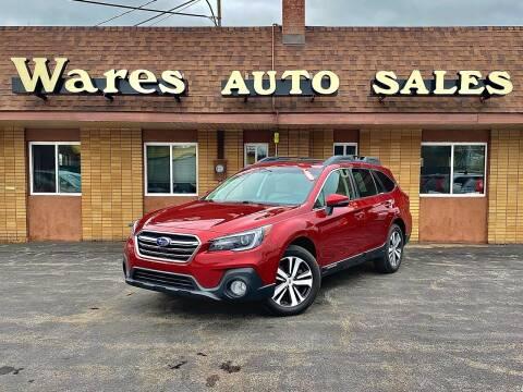 2018 Subaru Outback for sale at Wares Auto Sales INC in Traverse City MI