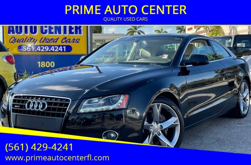 2012 Audi A5 for sale at PRIME AUTO CENTER in Palm Springs FL