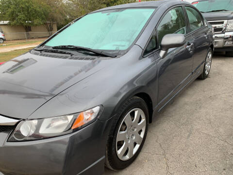 2009 Honda Civic for sale at BULLSEYE MOTORS INC in New Braunfels TX