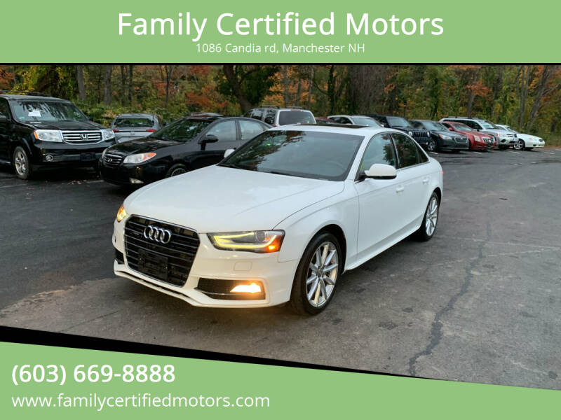 2014 Audi A4 for sale at Family Certified Motors in Manchester NH