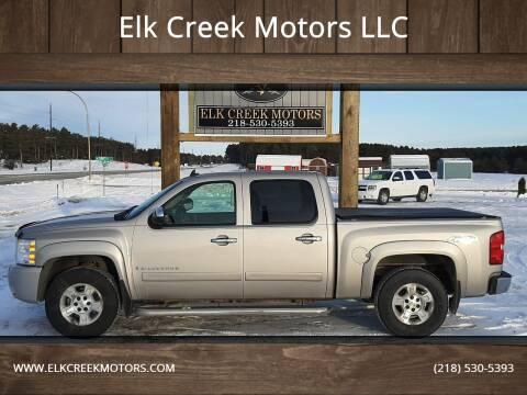 2007 Chevrolet Silverado 1500 for sale at Elk Creek Motors LLC in Park Rapids MN
