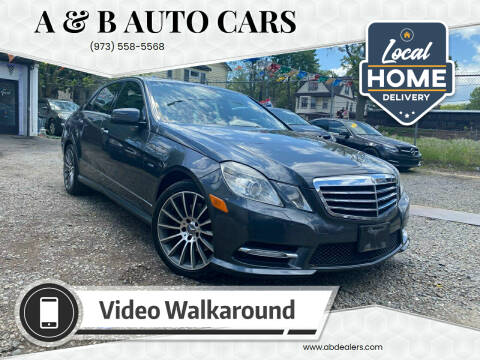 2012 Mercedes-Benz E-Class for sale at A & B Auto Cars in Newark NJ