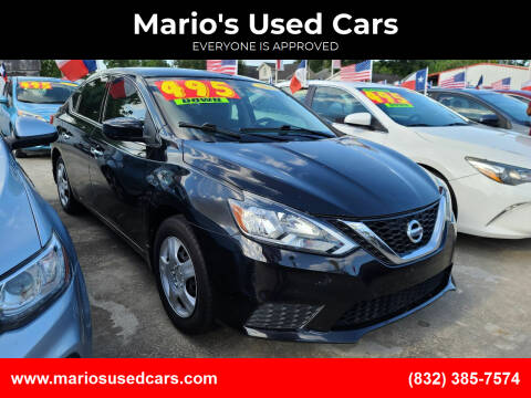 2016 Nissan Sentra for sale at Mario's Used Cars - South Houston Location in South Houston TX
