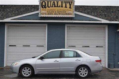 2003 Honda Accord for sale at Quality Pre-Owned Automotive in Cuba MO