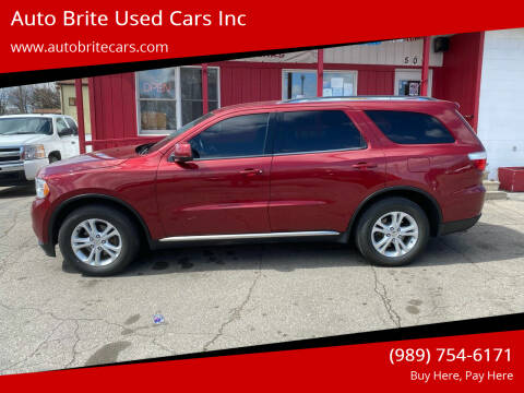 2013 Dodge Durango for sale at Auto Brite Used Cars Inc in Saginaw MI