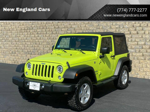 2016 Jeep Wrangler for sale at New England Cars in Attleboro MA