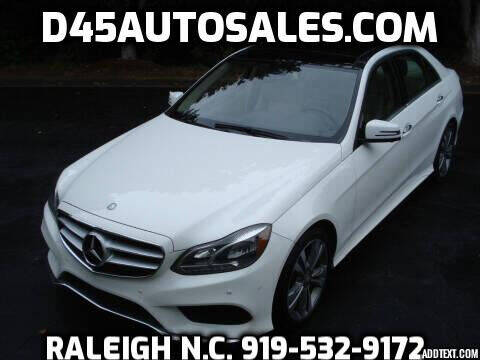 2016 Mercedes-Benz E-Class for sale at D45 Auto Brokers in Raleigh NC