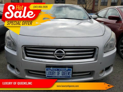 2012 Nissan Maxima for sale at LUXURY OF QUEENS,INC in Long Island City NY
