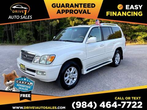 2005 Lexus LX 470 for sale at Drive 1 Auto Sales in Wake Forest NC
