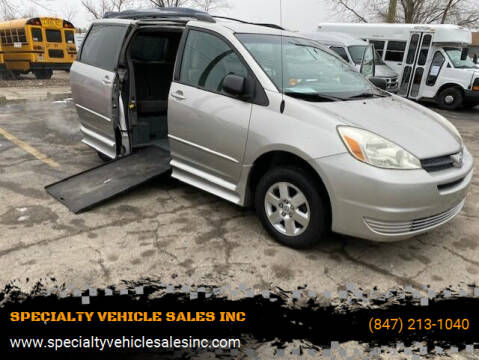 2005 Toyota Sienna for sale at SPECIALTY VEHICLE SALES INC in Skokie IL