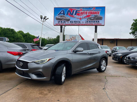2018 Infiniti QX30 for sale at ANF AUTO FINANCE in Houston TX