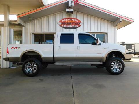 2006 Ford F-250 Super Duty for sale at Motorsports Unlimited in McAlester OK