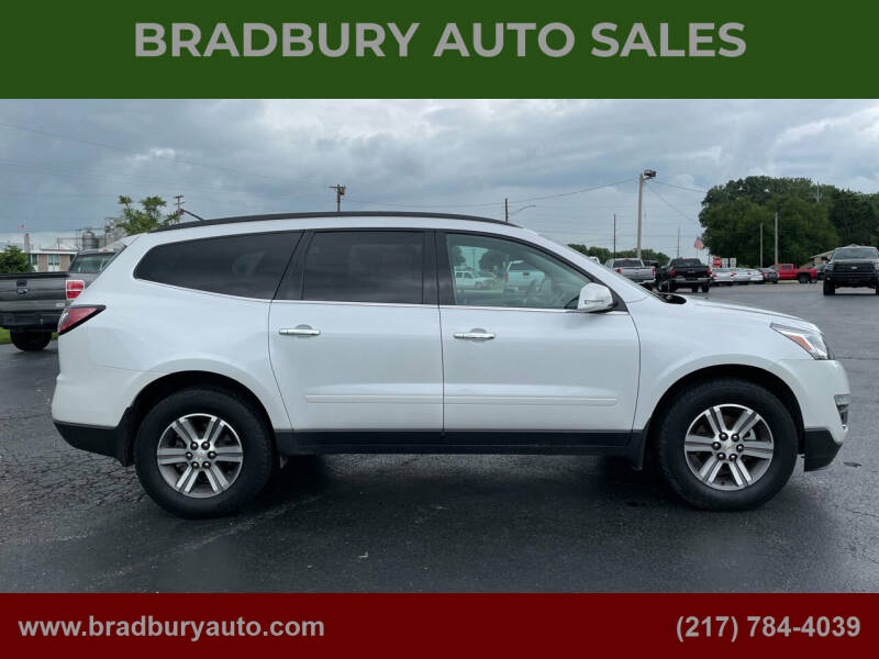 2017 Chevrolet Traverse for sale at BRADBURY AUTO SALES in Gibson City IL