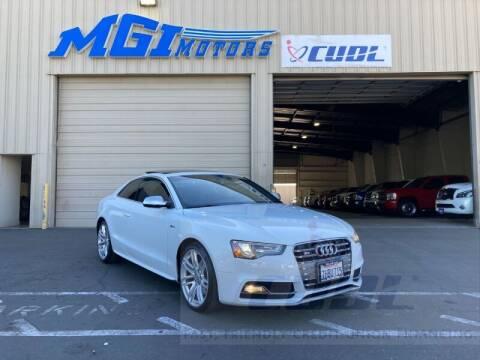 2015 Audi S5 for sale at MGI Motors in Sacramento CA