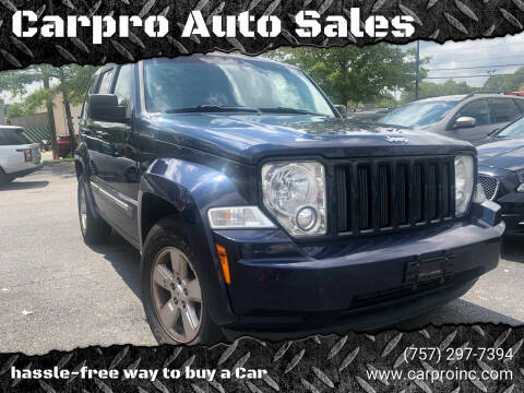 2012 Jeep Liberty for sale at Carpro Auto Sales in Chesapeake VA