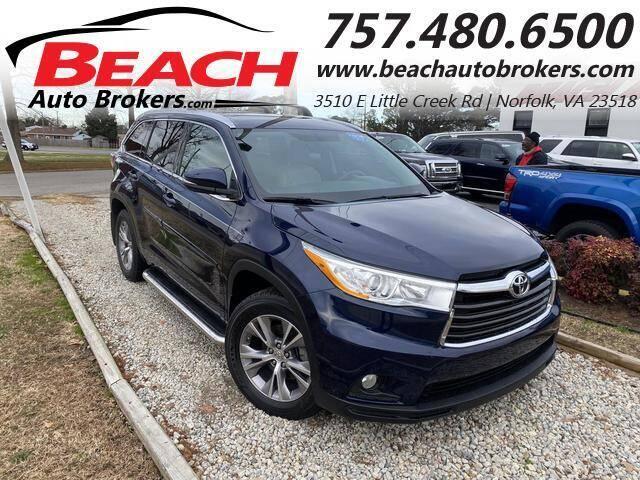 2014 Toyota Highlander for sale at Beach Auto Brokers in Norfolk VA