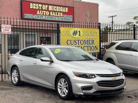 2017 Chevrolet Malibu for sale at Best of Michigan Auto Sales in Detroit MI