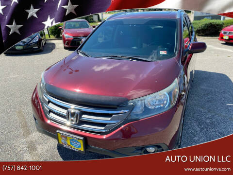 2012 Honda CR-V for sale at Auto Union LLC in Virginia Beach VA
