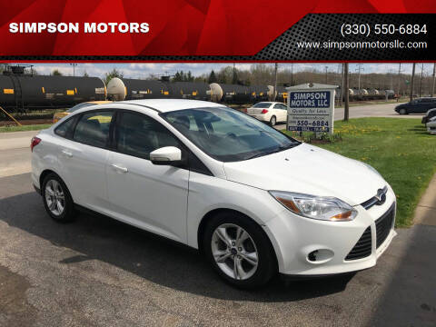 2014 Ford Focus for sale at SIMPSON MOTORS in Youngstown OH