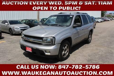 2004 Chevrolet TrailBlazer for sale at Waukegan Auto Auction in Waukegan IL
