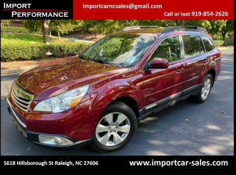 2011 Subaru Outback for sale at Import Performance Sales in Raleigh NC