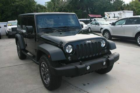 2016 Jeep Wrangler Unlimited for sale at Mike's Trucks & Cars in Port Orange FL