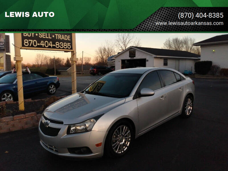 2012 Chevrolet Cruze for sale at LEWIS AUTO in Mountain Home AR