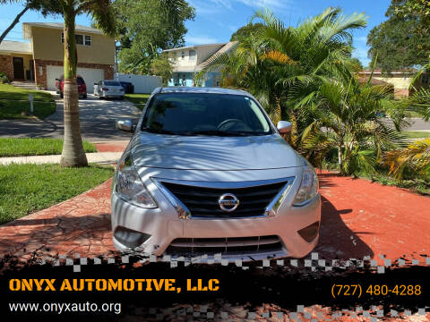 2015 Nissan Versa for sale at ONYX AUTOMOTIVE, LLC in Largo FL