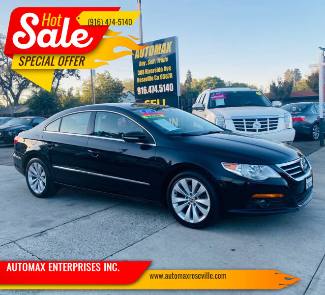2010 Volkswagen CC for sale at AUTOMAX ENTERPRISES INC. in Roseville CA