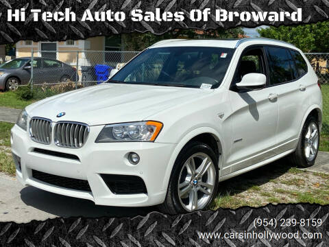 2013 BMW X3 for sale at Hi Tech Auto Sales Of Broward in Hollywood FL